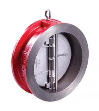 400-050-16 DN50 PN16 Клапан обратный межфланцевый двустворчатый Rushwork, корпус-чугун, седло-EPDM