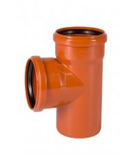 Тройник ПВХ Ostendorf KGEA 110 * 87° для наружной канализации 220400