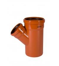 Тройник ПВХ Ostendorf KGEA 160 * 110 * 45° для наружной канализации 222329 / 222320