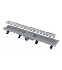 Водоотводящий желоб Simple APZ10-750M с порогами для перфорированной решетки (полипропилен)