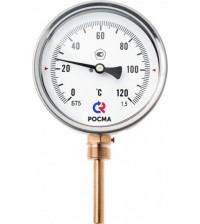 Термометр биметаллический БТ-52.211(0-120С)G1/2.46.1,5