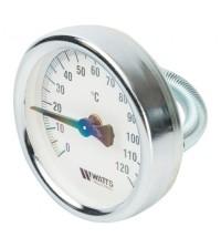 Термометр биметаллический накладной Watts с пружиной F+R810 TCM D63 0 - 120 °С 2,0 10006504