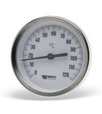 Термометр биметаллический с гильзой F+R801 OR D63 (0-120С) G1/2.75.2,0 Watts 10005809