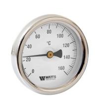 Термометр биметаллический с гильзой F+R801 OR D63 (0-160С) G1/2.50.2,0 Watts 10005806