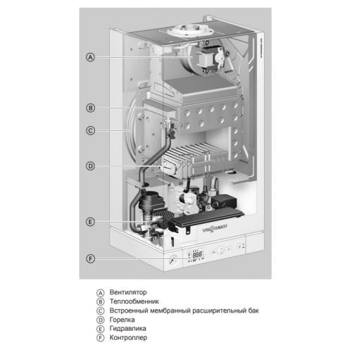 Котёл газовый двухконтурный Viessmann Vitopend 100-W K-rlu 12 кВт настенный A1JB009