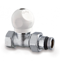Клапан латунный терморегулирующий для радиатора TE-SA верхний прямой 3/4