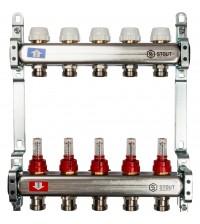 Коллекторная группа STOUT 5 выходов с расходомерами и вентилями SMS 0917 000005