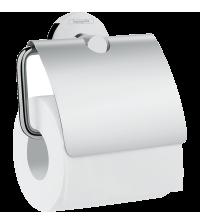 Держатель для туалетной бумаги Hansgrohe Logis Universal с крышкой хром 41723000