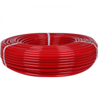 Труба из сшитого полиэтилена PEX-a STOUT 16 х 2,0 мм бухта 200 м красная SPX-0002-001620