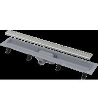 Лоток душевой горизонтальный Alca Plast Simple Ду 40 120 * 710 мм нержавеющая решетка комбинированный гидрозатвор APZ10-650M