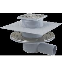 Трап горизонтальный Alca Plast Ду 50 105 * 105 мм нержавеющая решетка комбинированный гидрозатвор APV1324