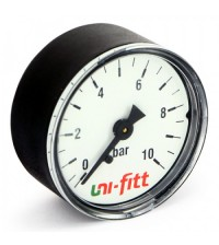 Манометр аксиальный Uni-Fitt 10 бар 1/4
