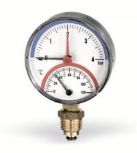 Термоманометр радиальный Watts F+R828 TMRP 10 бар 0 - 120 градусов 1/2