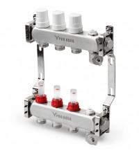 Коллекторный блок с расходомерами Pro Aqua 9 выходов 530 мм 1 * 3/4