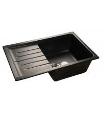 Мойка кухонная GranFest Practic Мрамор черный GF-P760L