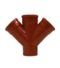 Крестовина полипропиленовая Дигор 110 * 110 * 110 * 45° для наружной канализации