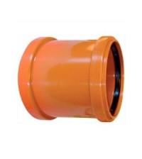 Муфта полипропиленовая Дигор 110 двухраструбная для наружной канализации