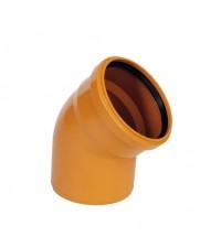 Отвод полипропиленовый Дигор 110 * 45° для наружной канализации