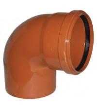 Отвод полипропиленовый Дигор 110 * 87° для наружной канализации