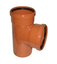 Тройник полипропиленовый Дигор 110 * 110 * 87° для наружной канализации