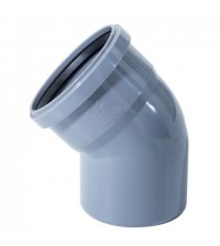Отвод полипропиленовый Дигор 110 * 45° для внутренней канализации