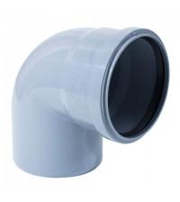 Отвод полипропиленовый Дигор 110 * 87° для внутренней канализации