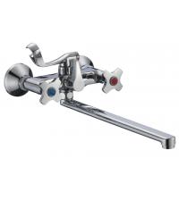 Смеситель для ванны РМС EXPERT двухрычажный с длинным изливом 322 мм хром SL115-140E