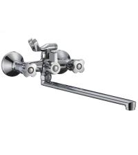Смеситель для ванны РМС EXPERT двухрычажный с длинным изливом 322 мм хром SL116-140
