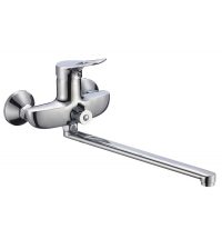 Смеситель для ванны РМС DESIGN однорычажный с длинным изливом 322 мм хром SL120-006E