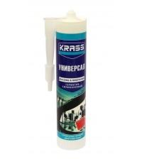 Герметик Krass силиконовый  универсальный белый 300 мл *12