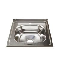 Мойка для кухни из нержавеющей стали MIXLINE 50 х 50 (0,6) выпуск 3 1/2 16 см квадратная с сифоном 527973