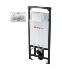Комплект инсталляции ALCAPLAST (AM101/1120+M71) с кнопкой управления хром - глянец