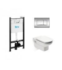 Комплект инсталляции с унитазом Roca Pack Dama Senso с кнопкой сиденьем 893104090